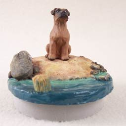 Conversation Concepts Miniature Boxer Tawny w/Uncropped Ears Candle Topper Tiny One \