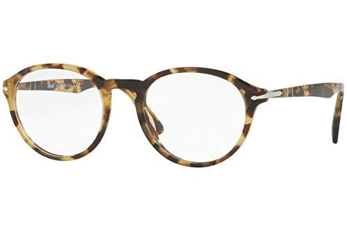 Persol PO3162V Calligrapher Edition Eyeglasses 52-20-145 Brown Beige w/Demo Clear Lens 1056 PO 3162-V PO3162-V PO ()