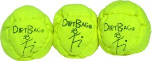Dirtbag Classic Footbag Hacky Sack 3 Pack - Fluorescent Yellow by Dirtbag