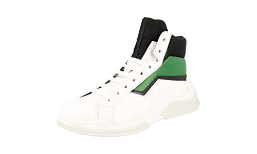 Prada Mens 4T2802 BSY F0MOY Leather Sneaker