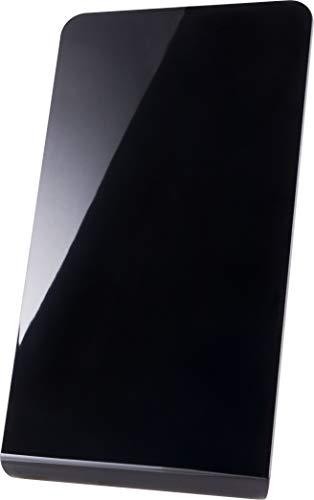 GE Pro Flat Indoor TV Antenna, 30 Mile Antenna, Slim Home Decor, Digital, HDTV Antenna, Smart TV, 4K 1080P VHF UHF, Coaxial Cable, Black, 33681