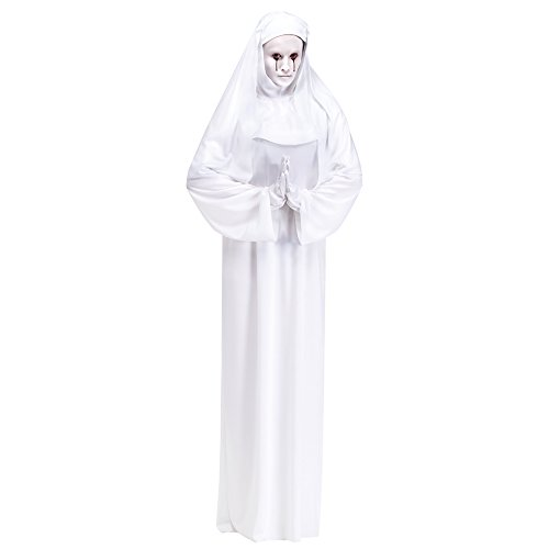 Scary Nun Costumes - Scary Mary White Nun Adult