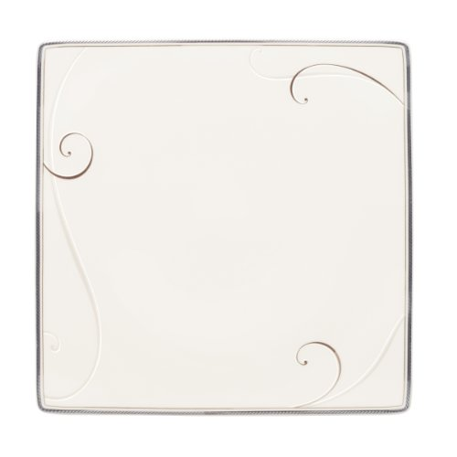 - Noritake Platinum Wave Square Dinner Plate