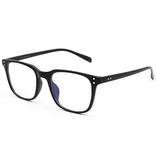 Livho Blue Light Blocking Glasses Filter Blue Ray Computer Game Glasses for Women Men Square Eyeglasses TR90 Frame [Anti Eyestrain, Reduce Headache & Better Sleep] - 0.0 ()