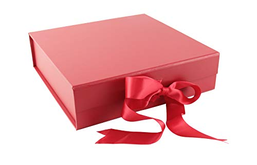 SketchGroup Gift Box with Ribbon - for Luxury Packaging - Assortment | Black | |Red | | Pink | (Red Pearl)