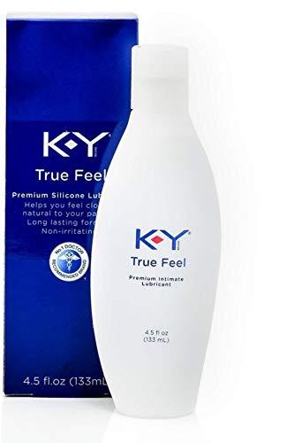 K-Y True Feel Silicone Lubricant, 4.5 oz (Pack of 2)