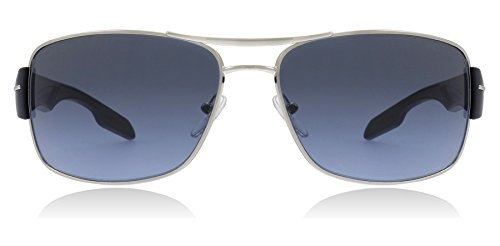 Prada Sport Sunglasses - PS53NS / Frame: Silver Blue Lens: Gray - Sunglasses Prada Silver