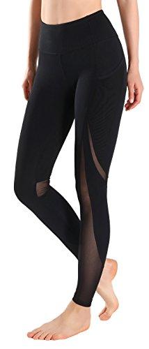 MotoRun Active Workout Running Mesh Leggings Power Flex High Waist Yoga Pants Pockets …