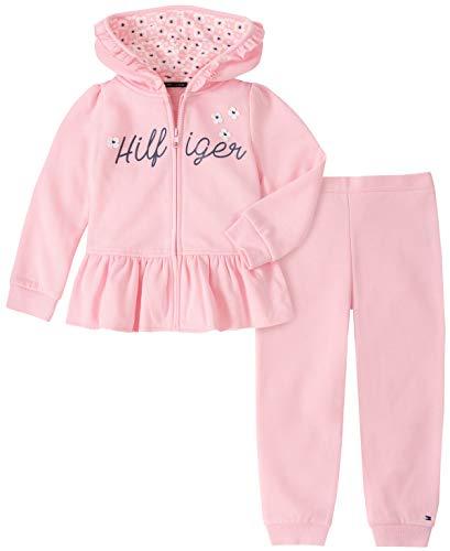 Tommy Hilfiger Baby Girls 2 Pieces Jog Set, Pink, 6-9 Months