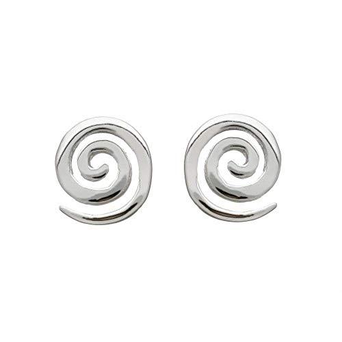 - Amethyst Dublin Irish Celtic Design Jewellery - Sterling Silver Spiral Stud Earrings - 6mm