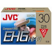 JVC TC-30EHGDU/3 High Grade Vhs-c Videocassette (Discontinued by Manufacturer) by JVC