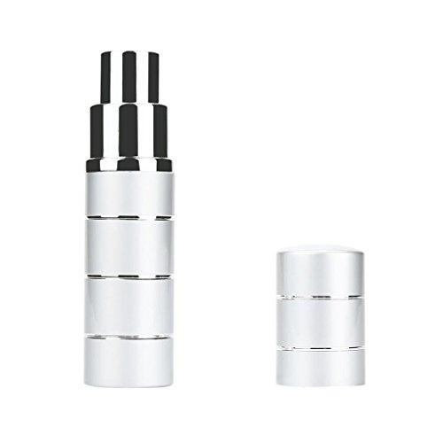 Travel Size Spray Bottles, Sunward Purse Size Refillable Empty Perfume Atomizer 10ml Bottles (Silver)