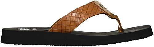 Sandal Women's Box Tan Cocoa Yellow 6wqx7tw5H