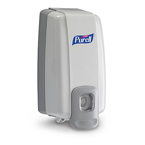 PURELL NXT Push-Style SPACE SAVER Sanitizer Dispenser, Dove Grey, Dispenser for 1000 mL PURELL NXT Sanitizer Gel Refills (Case of 6) - 2120-06