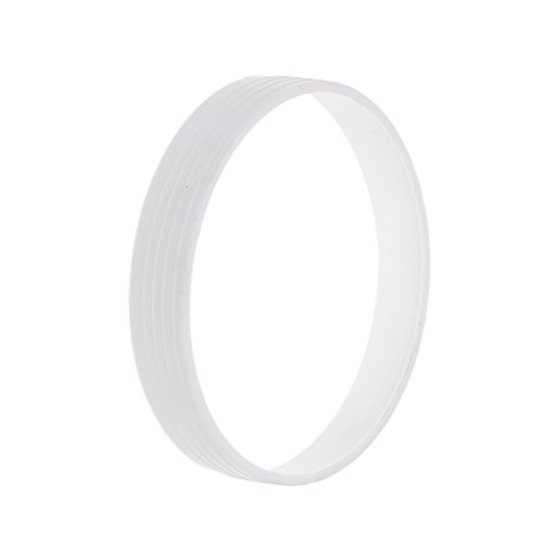 Jili Online White Plastic Golf Putting Green Hole Cup Ring Accessory 11cm Dia. 2cm Height