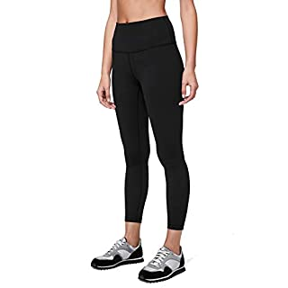 Lululemon Women's Wunder Under Stretchy Fitness Pants - High Rise Leggings, Sweat-Wicking Fabric, Firming Support, 25 Inch Inseam, Black, Size 4