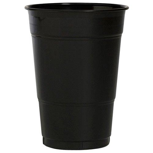 Creative Converting Value Pack Plastic Cups, Black Velvet, 50-Count, Health Care Stuffs
