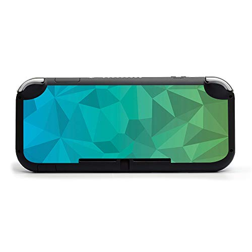 MightySkins Skin Compatible with Nintendo Switch Lite - Blue Green Polygon | Protective, Durable, and Unique Vinyl Decal Wrap Cover | Easy to Apply, Remove, and Change Styles | Made In The USA