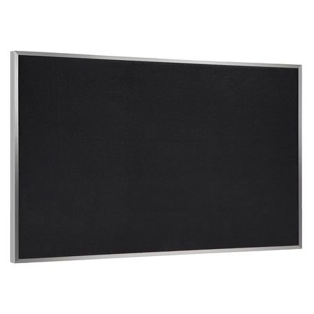 Wall Mounted Bulletin Board Surface Color: Black, Size: 3' H x 4' W by Ghent