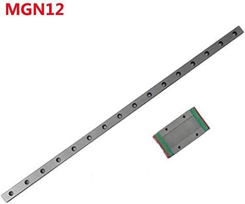 WNN-TOOL MGN12 Linearschienenführung, Breite 12 mm, Länge 100, 200, 300, 400, 500, 600, 700 mm mit 1 Linearblock MGN12H, MGN12H 500mm