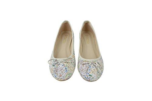 Les Sur Confort Weiß TATTOPANI de Motif Chaussures Ballerines Floral Femmes Plates wzwI6PqX