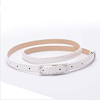White Faux Leather Belt For Women