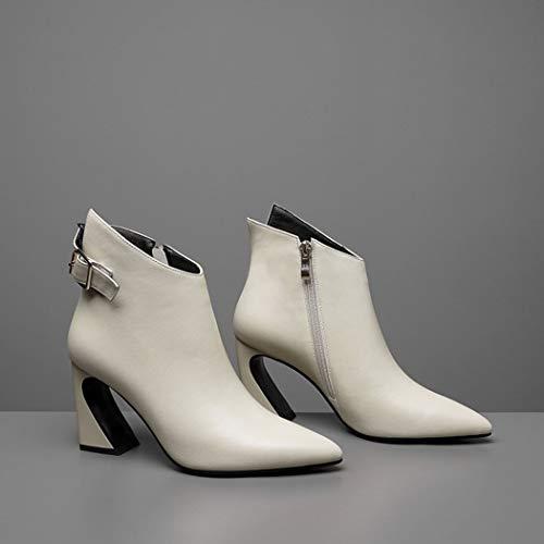 Beige Martin Stiefel RLYAY High Warm Herbst Heels Pointierte Schwarz Boots Winter Casual Frauen 7czfCqwxza