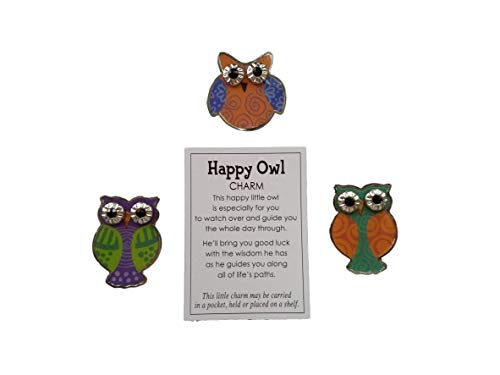 TLP Online Ganz Pocket Tokens: Bundle of 3 Different Colored Owl Tokens Each with its own Poem Charm Card (Orange/Green/Purple)