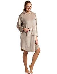 Women's Ultra Soft Hooded Snuggle Lounger, Lightweight...