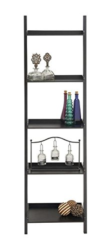 Shelf, Black, 20 by 69-Inch (Abstract Bookcase)