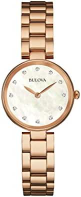 Bulova womens 97P111 12mm Rose Gold Rose Gold Watch Bracelet