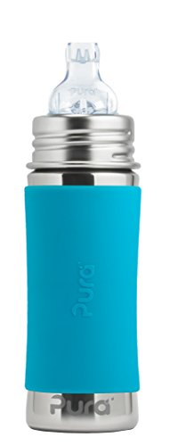 Pura Stainless Steel Toddler Bottle With Silicone Xl Sipper Spout & Sleeve, Aqua