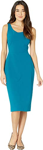Betsey Johnson Women's Scuba Crepe Midi Dress Teal 10 ()