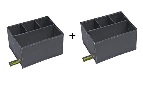 meori Organizer Insert 3+1 Slots Mini Box(Sold Separately)/Sort Make-up Office Craft Tools (2Pack)