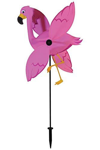 In the Breeze 2558 Baby Flamingo Whirligig Wind Spinner for Your Yard or ()