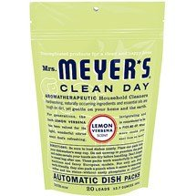 Mrs. Meyer's Clean Day Automatic Dish Packs, Lemon Verbena, 20 ct, (Pack of 6) (Discount China Dishes)