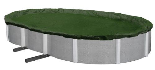 Oval Cover Winter - Blue Wave Silver 12-Year 15-ft x 30-ft Oval Above Ground Pool Winter Cover