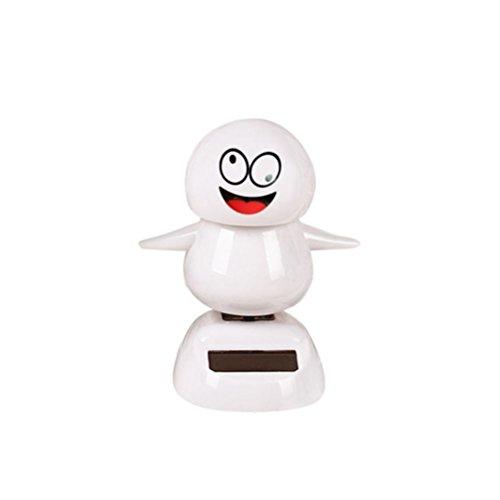 Ratchet Girl Halloween Costume (Christmas Snowman Solar Powered Shaking Head Dancing Animal Swinging Car Decor Emoji,Sulear White J)