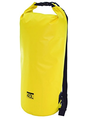Mad Water Waterproof Dry Bag, Yellow, 40 L