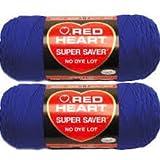 Bulk Buy: Red Heart Super Saver (2-pack) (Royal)