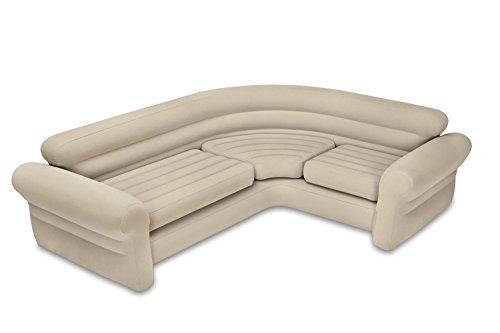 Intex Inflatable Corner Sofa, 101″ X 80″ X 30″