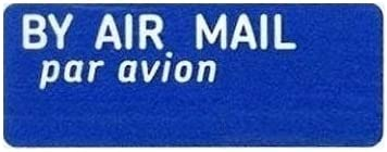 180 stickers in total 5 A5 Sheets of 36 Airmail Par Avion stickers  labels