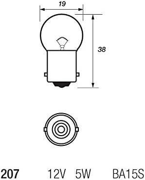 10 x Ring R207 R5W BA15S Car Light Bulb 207 12v 5w Number Plate Tail Light Sidelight