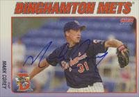 Mark Corey Binghamton Mets - Mets Affiliate 2001 Choice Autographed Card - Minor League Card. This item comes with a certificate of authenticity from Autograph-Sports. Autographed