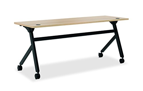 HON Assemble Flip Base Multi-Purpose Table, 72-Inch, Wheat/Black (HBMP7224P)