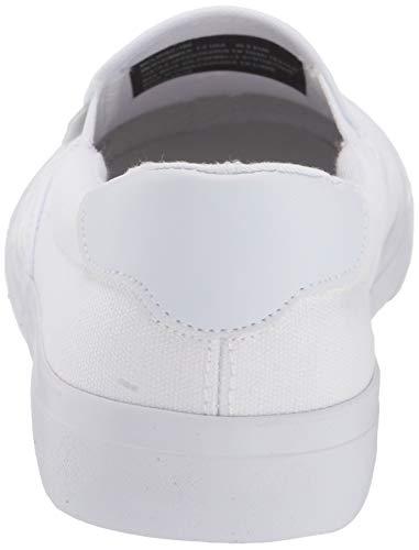 Lugz Men's Clipper Classic Slip-on Fashion Sneaker, White, 15