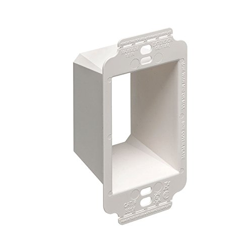 Arlington - (10 Pack) Single Gang Box Extender with Larger Flange - Up to 1-1/2'' - BE1X (Mounting Screws NOT Included)