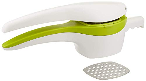 (RSVP Potato Ricer and Baby Food Strainer, White and Green with Interchangeable Disks (SPUD) )