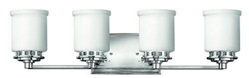 Hinkley 5194CM Transitional Four Light Bath from Ashley collection in Chrome, Pol. (Hinkley Chrome Sconce)