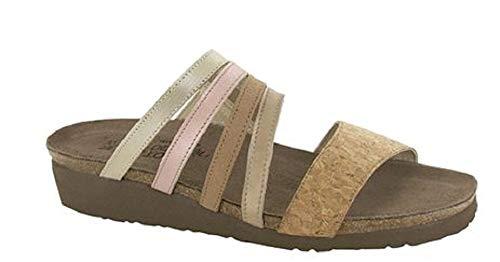 NAOT Footwear's Women's Peyton Sandal Cork Lthr/Champagne Lthr/Nude Nubuck/Pearl Rose Lthr/Gold Threads Lthr 38 M EU / 7-7.5 B (M) US